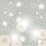 Fond rougeoyant de neige de Noël Photographie stock libre de droits
