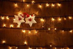 Fond rougeoyant de Noël Photo libre de droits