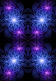 Fond rougeoyant généré par ordinateur artistique d'illustration de fractales de roses de résumé lumineux unique illustration libre de droits