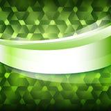 Fond rougeoyant vert de label de produit nouveau Image libre de droits