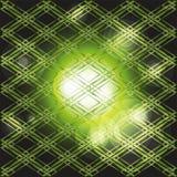 Fond rougeoyant vert-foncé abstrait avec des bulles Image stock