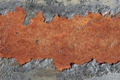 Fond rouillé criqué en métal Image libre de droits