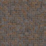Fond rouillé de brique en métal sans couture illustration libre de droits