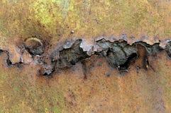 Fond rouillé de texture en métal de fer photographie stock libre de droits