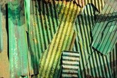Fond rouillé de texture de zinc de mur Photo stock