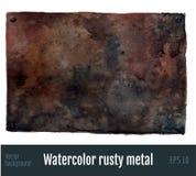 Fond rouillé en métal Photos libres de droits