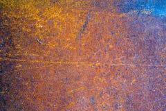 Fond rouillé porté foncé en acier de texture en métal Images libres de droits