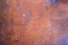 Fond rouillé porté foncé en acier de texture en métal Image libre de droits