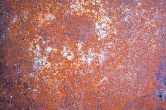 Fond rouillé porté foncé en acier de texture en métal Photos stock