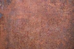 Fond rouillé usé de texture en métal de brun foncé image stock