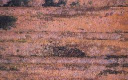 Fond rouillé usé de texture en métal de brun foncé Photos libres de droits