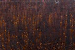 Fond rouill? Vieux feuillard rouill? Mur rouillé rouge du garage Fond de Brown photo stock