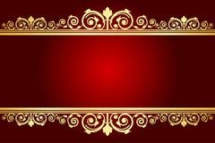 Fond royal avec le cadre décoré Images libres de droits