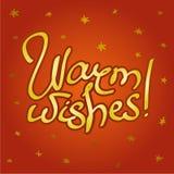 Fond royal de couleur rouge, marquant avec des lettres des souhaits chauds illustration de vecteur