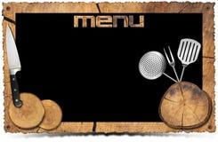 Fond rustique de menu - cadre de photo Photos stock