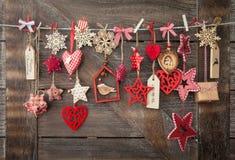 Fond rustique de Noël Images stock