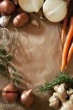 Fond rustique de nourriture Images stock