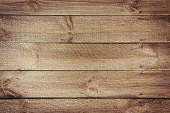 Fond rustique de table des conseils en bois horizontaux avec des clous Image libre de droits