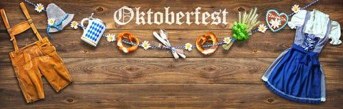 Fond rustique pour Oktoberfest Photo libre de droits