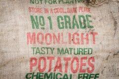 Fond, sac à pomme de terre Images libres de droits