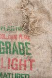 Fond, sac à pomme de terre Image stock
