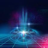 Fond sacré de symboles et d'éléments de la géométrie Alchimie, religi illustration libre de droits