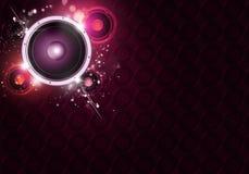 Fond sain abstrait de musique de haut-parleur illustration de vecteur