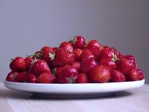 Fond sain de gris de strawberr Photos stock