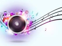 Fond sain de musique de haut-parleur illustration libre de droits
