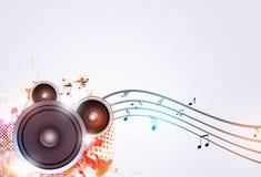 Fond sain de musique de haut-parleur de partie illustration stock