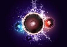 Fond sain de musique de partie de haut-parleur Images stock