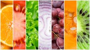 Fond sain de nourriture fraîche Photos libres de droits