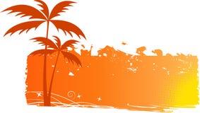 Fond sale avec des palmiers Photos libres de droits