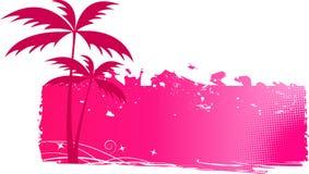 Fond sale avec des palmiers Images libres de droits