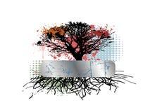 Fond sale d'arbre Images stock