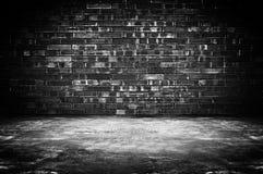 Fond sale de chambre noire photo stock