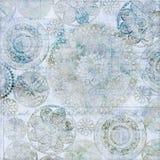 Fond sale de napperon bleu-clair de vintage Photos stock