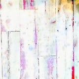 Fond sale mou d'aquarelle avec la texture en bois de grain illustration stock