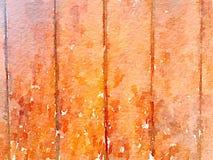 Fond sale mou d'aquarelle avec la texture en bois de grain Photographie stock libre de droits