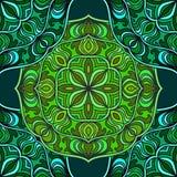 Fond sans couture abstrait des éléments fleuris lumineux Configuration décorative illustration stock