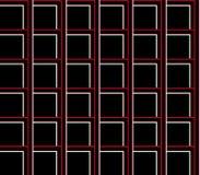 Fond sans couture abstrait des lignes noires, blanches et rouges et des places et des cubes Photo libre de droits