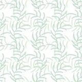 Fond sans couture abstrait floral de vecteur de feuille Images stock