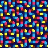 Fond sans couture abstrait géométrique de modèle Courbes colorées illustration de vecteur