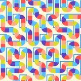 Fond sans couture abstrait géométrique de modèle Courbes colorées illustration stock
