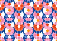 Fond sans couture abstrait géométrique de modèle Formes colorées illustration de vecteur