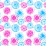 Fond sans couture abstrait illustré avec l'écoulement de bleu et de rose Photo libre de droits