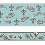 Fond sans couture antique égyptien Images libres de droits