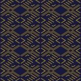 Fond sans couture antique Diamond Check Cross Geometry Frame illustration stock