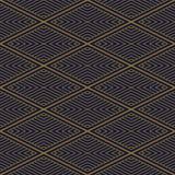Fond sans couture antique Diamond Check Cross Vortex Frame Lin Photos stock