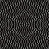 Fond sans couture antique Diamond Check Cross Vortex Frame Lin illustration de vecteur
